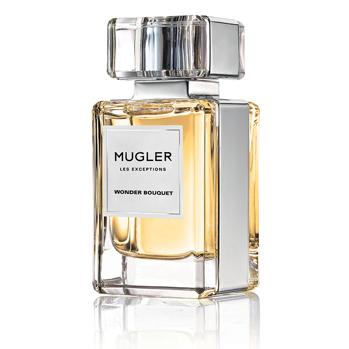 <p>Jasmine shares the stage with lily of the valley and orange blossom in this white floral bouquet. <strong>Mugler Les Exceptions Wonder Bouquet Eau de Parfum</strong>, $190 for 80 ml, Hudson's Bay, <em>thebay.com</em></p>