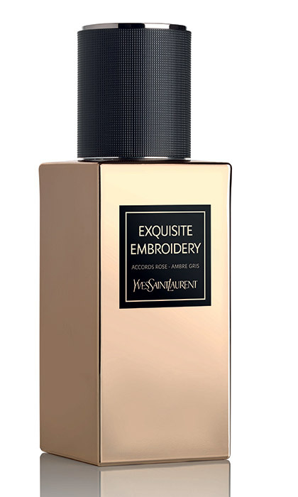 <p>As opulent as the heavily embroidered fabrics that inspired it, the oriental rose is joined by ambergris, oud, patchouli and musk. <strong>YSL Le Vestiaire des Parfums Exquisite Embroidery</strong>, $230 for 75 ml, <em>yslbeauty.ca</em></p>