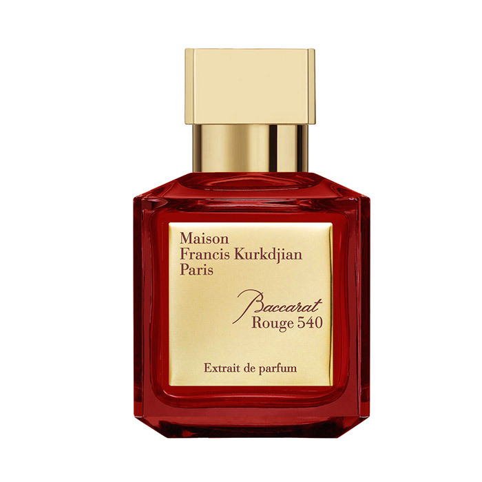 <p>Jasmine grandiflorum from Egypt is amplified with notes of saffron and bitter almond. <strong>Maison Francis Kurkdjian Baccarat Rouge 540 Extrait de Parfum</strong>, $516 for 70 ml, <em>franciskurkdjian.com</em></p>