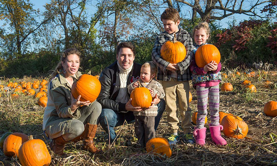 <p>Canada's first family has been capturing the hearts of the nation since Justin Trudeau won the election back in 2015. The family of five love spending time together, from pumpkin picking in the fall (seen here at a farm in Gatineau, Quebec) to skating the Ottawa Rideau Canal in the winter, to attending summer PRIDE festivities across the country. <p>Here are some of Justin and Sophie's sweetest moments with their beautiful children – Xavier, 9, Ella Grace, 8, and three-year-old Hadrien. </p>