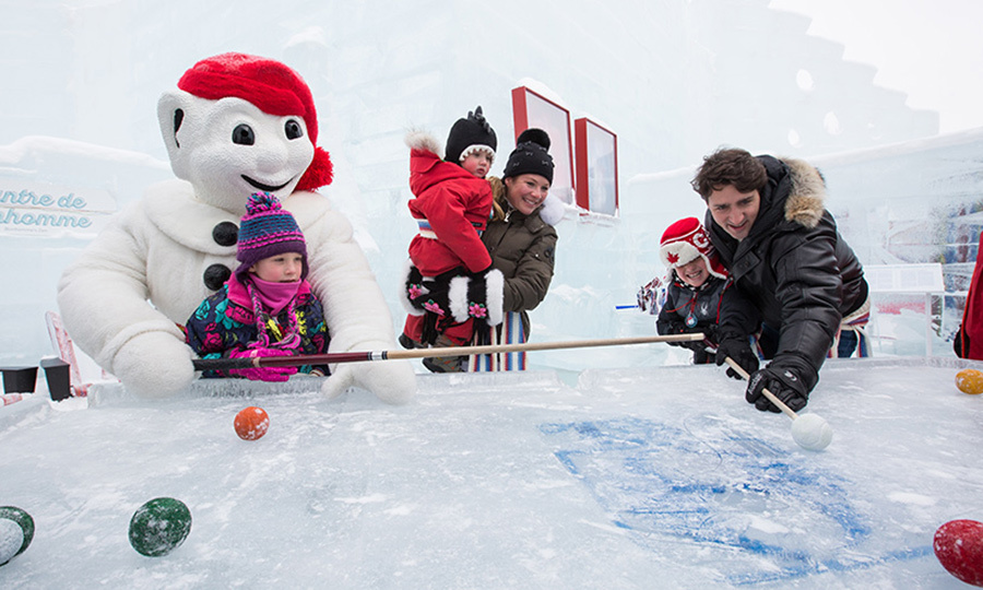 <p>The family enjoyed a fun game of ice pool at Quebec City's Carnaval in 2016. </p>