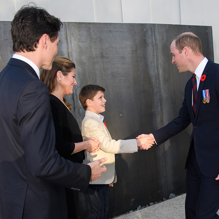 <p>Xavier was front and centre during a remembrance service at Vimy Memorial Park in northern France. The prime minister's son even got the chance to meet Prince William! 