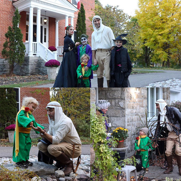 "<p>The First Family takes Halloween very seriously. Here, the Trudeaus hit the streets of Ottawa in a variety of costumes. Sophie wrote on Instagram, ""Trick or treating with the family! Including a pilot and his Little Prince. ""