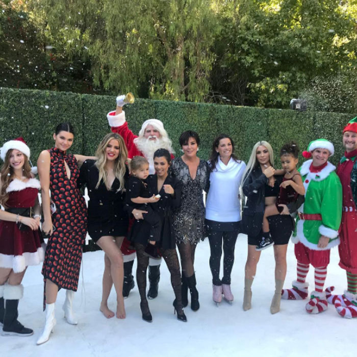 "<p>A very Kardashian Kristmas! Kris Jenner got into the spirit of Christmas with her daughters Kendall, Khloe, Kourtney and Kim in addition to her grandchildren Reign and North. The matriarch shared this picture on her Instagram, which she captioned, ""Oh no big deal...just Ice Skating with @nancyakerrigan in Calabasas in 95 degree heat for our Christmas Special!!!! #nancykerrigan#christmasinOctober #santaselves#santa #soexcited."" 