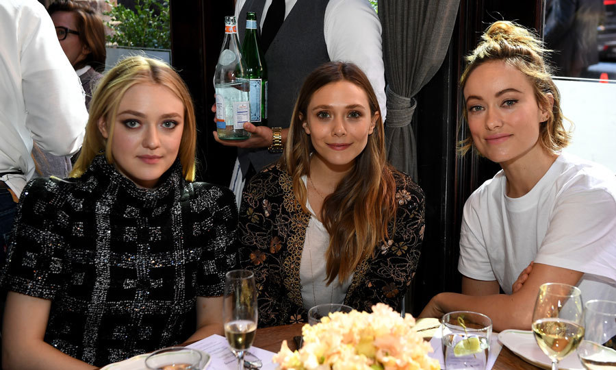 <p>Dakota Fanning, Elizabeth Olsen and Olivia Wilde were ladies who lunch during the Through Her Lens: The Tribeca Chanel Women's Filmmaker Program Luncheon at Locanda Verde in NYC.