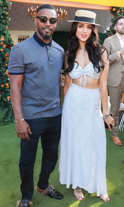 <p><i>Baby Drivers</i> stars Eiza Gonzalez and Jamie Foxx attended the eighth annual Veuve Clicquot Polo Classic on October 14.