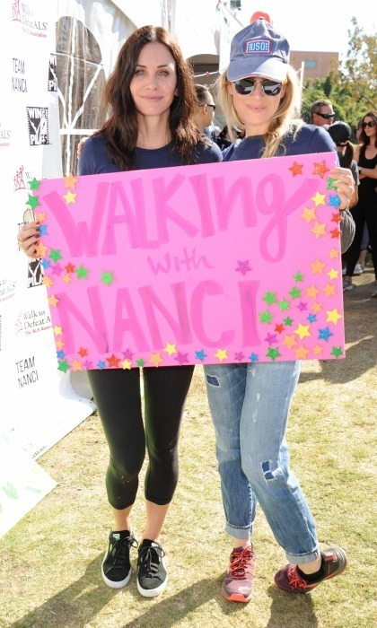 "<p>Courteney Cox and Renee Zellweger came together for a great cause on Oct. 15. The actors walked in support of publicist Nanci Ryder, under ""Team Nanci,"" for the annual L.A. County Walk to Defeat ALS at Exposition Park. Other celebrities, like Matt Bomer, were also on the team.
