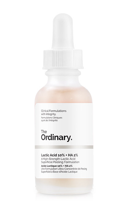 <p><strong>The Ordinary Lactic Acid 10% &amp; Hyaluronic Acid 2%</strong>, $6.70</p>