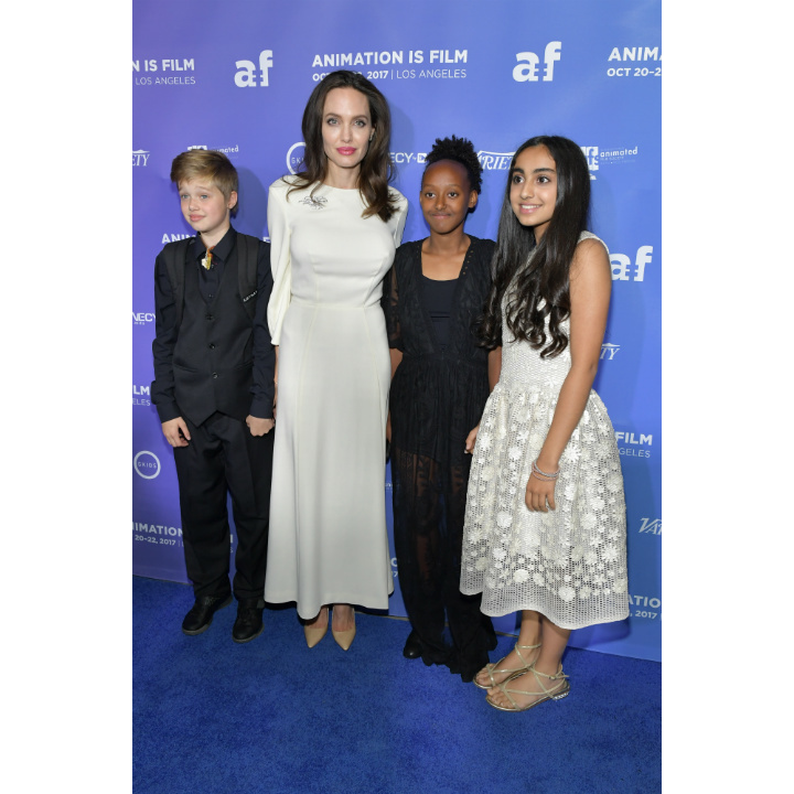 Angelina Jolie and her daughters Shiloh and Zahara, along with actress Saara Chaudry, enjoyed a night out at the premiere of <em>Breadwinner</em> in Hollywood on Friday (Oct 20). The actress also attended the world premiere of the animated film at the Toronto International Film Festival in September. 