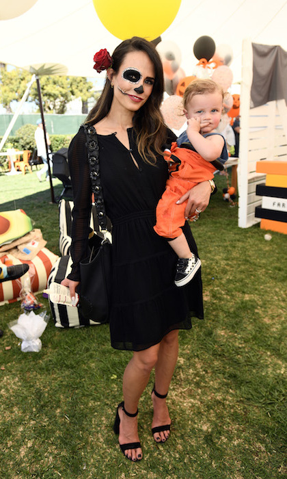 <p>Jordana Brewster and her little boy Rowan Brewster-Form,1, looked spookily adorable at the GOOD+ Foundation Halloween Bash.</p>