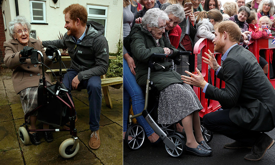 Prince Harry never forgets a familiar face! The royal visited Lancashire on Monday (Oct. 23) where he reunited with local resident Winnie Hodson. The 93-year-old turned out to see the royal after meeting him in February 2016 when Harry toured the region following devastating floods. 