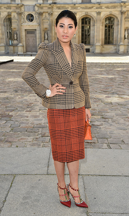 <p>Just like the Duchess of Cambridge, Princess Sirivannavari Nariratana can't resist a beautifully-cut skirt suit. The princess wore this color block tartan combo in autumn hues to the Christian Dior show back in September 2014 as she took in the Spring/Summer 2015 collections at Paris Fashion Week. <br /><br />Photo: Pascal Le Segretain/Getty Images</p>