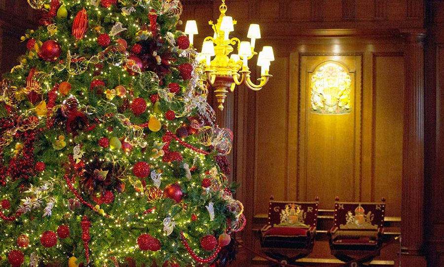 The historic State Apartments will be draped with twinkling garlands and wreaths at the Palace of Holyroodhouse.