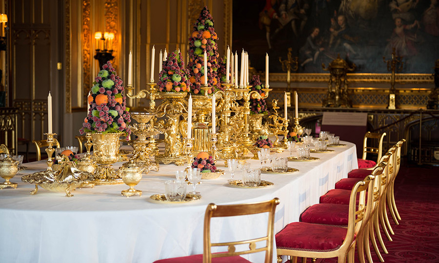 Guests will be given a glimpse of a decadent royal feast at Windsor Castle.