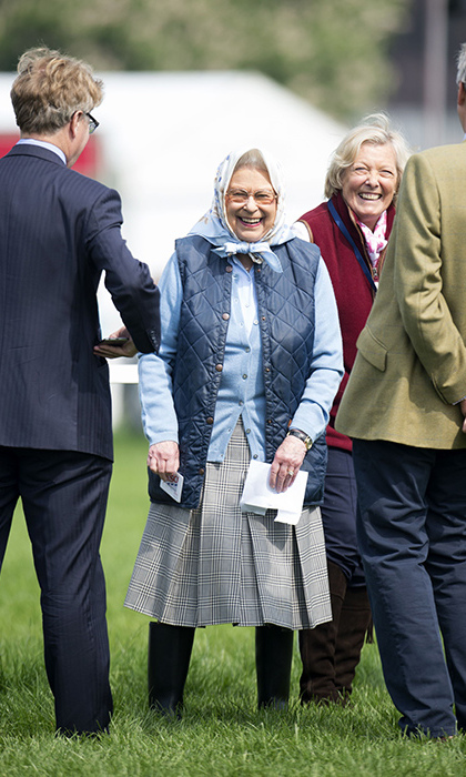 <p>The Queen pictured at the races after winning a Tesco voucher.</p>
