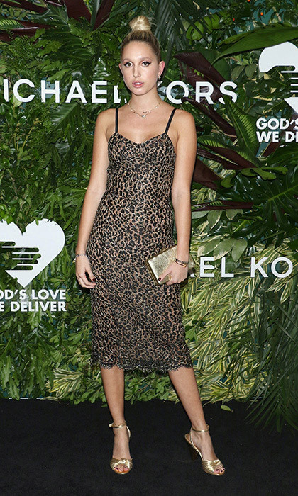 <p>Princess Olympia of Greece got in touch with her wilder side at the 11th Annual God's Love We Deliver Golden Heart Awards at Spring Studios in New York City on October 16. The royal wore a sultry lace animal print lace slip dress by Michael Kors with cool metallic accessories.<br /><br />Photo: Jim Spellman/WireImage</p>