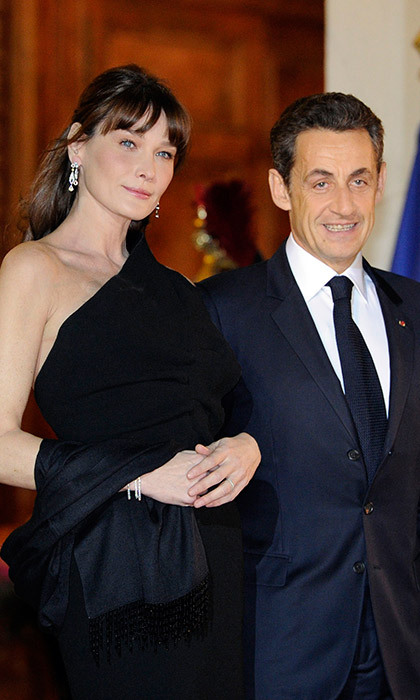 <p>Carla and husband Nicolas in 2011, when he was the president of France.</p>