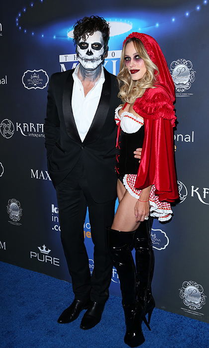 <p><i>Dancing With the Stars'</i> Maksim Chmerkovskiy and wife Peta Murgatroyd killed the Halloween game at the 2017 Maxim Halloween party.</p>