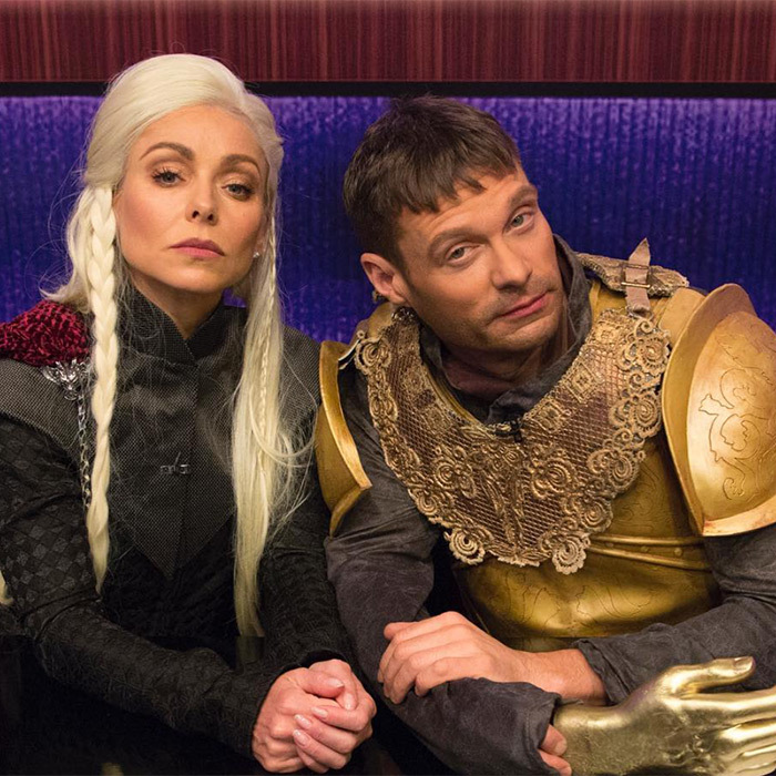 <p>The hilarious talkshow duo Kelly Ripa and Ryan Seacrest looked dashing as <i>Game of Thrones</i> characters.</p>