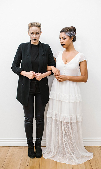 "<p>Fashion designer and former reality TV star Lauren Conrad shared some amazing Halloween ideas on her website, like this Frankenstein and Corpse Bride-inspired combo. She Tweeted out the photo, along with the caption, ""Boo! This Frankenstein costume was SO easy to put together.""</p>