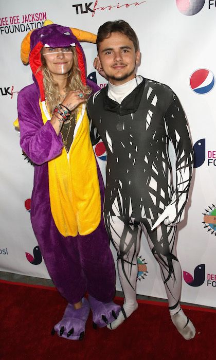 Paris Jackson got into the Halloween spirit to support her brother Prince Jackson at his 2nd annual Costume for a Cause party at the Jackson Family Home.