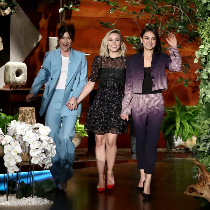 Kathryn Hahn, Kristen Bell and Mila Kunis stopped by The Ellen DeGeneres Show to discuss their upcoming film <em>A Bad Moms Christmas</em>. During the appearance that aired on October 27, the trio discuss their close-knit bond and share some of their own 'bad mom' moments.