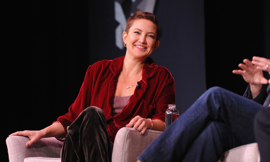 Kate Hudson took the stage during the Fast Company Innovation Festival in NYC to discuss the success of her athleisure line Fabletics. 