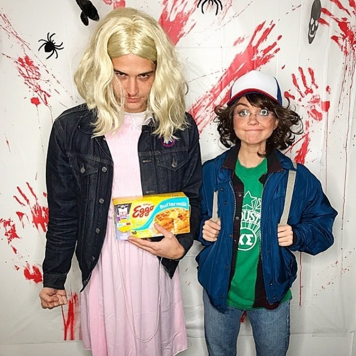 Sarah Hyland and rumoured boyfriend Wells Adams (of <em>The Bachelorette</em> and <em>Bachelor in Paradise</em> fame) dressed up as Eleven and Dustin from <em>Stranger Things</em>.  