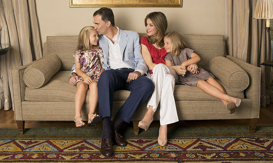 Leonor and her family reside at Zarzuela Palace, located in the outskirts of Madrid. The 18th century former hunting estate includes the royal family's 33,900 sq ft home, which has served as the backdrop for a number of official photoshoots, including this one in 2012 held in honour of Queen Letizia's 40th birthday. 