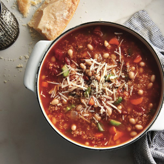 <h4>Quinoa minestrone soup</h4>