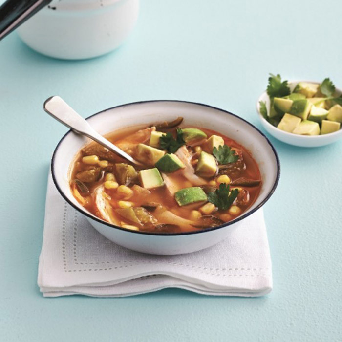 <h4>Spicy Mexican chicken soup</h4>