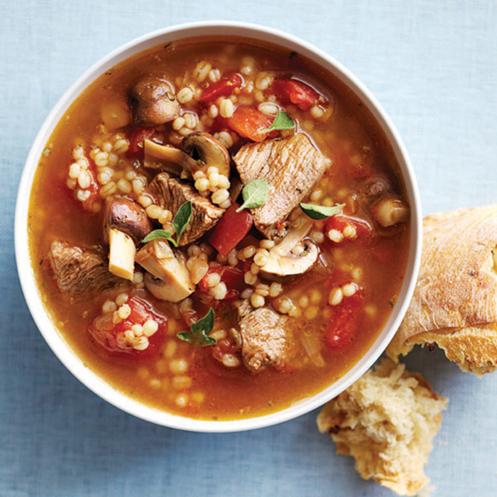 <h4>Beefy barley soup</h4>