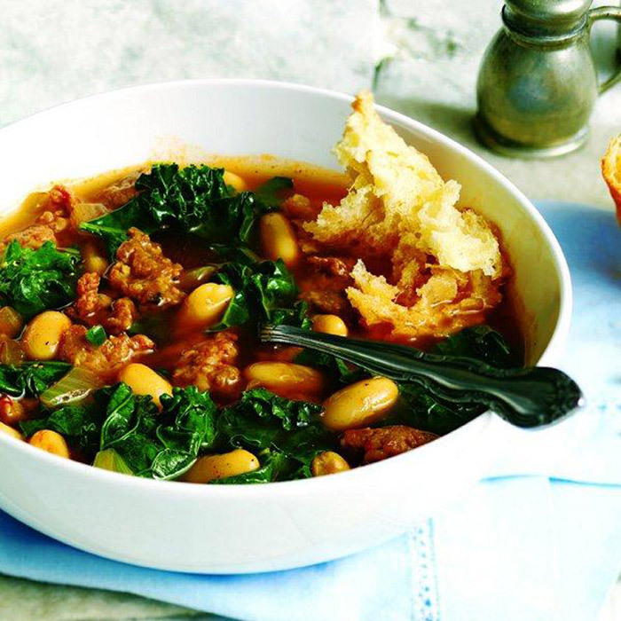 <h4>Turkey and white bean soup</h4>