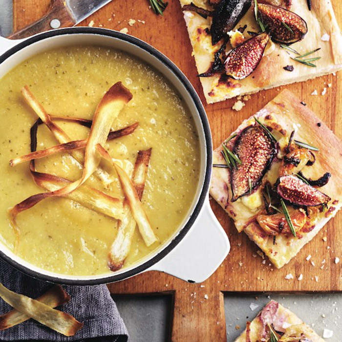 <h4>Parsnip, apple and leek soup</h4>