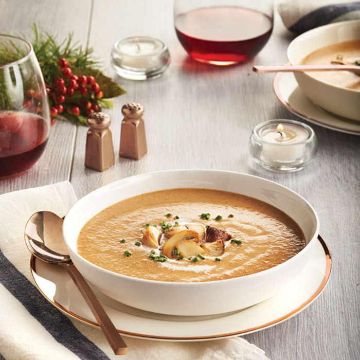 <h4>Velvety mushroom soup</h4>