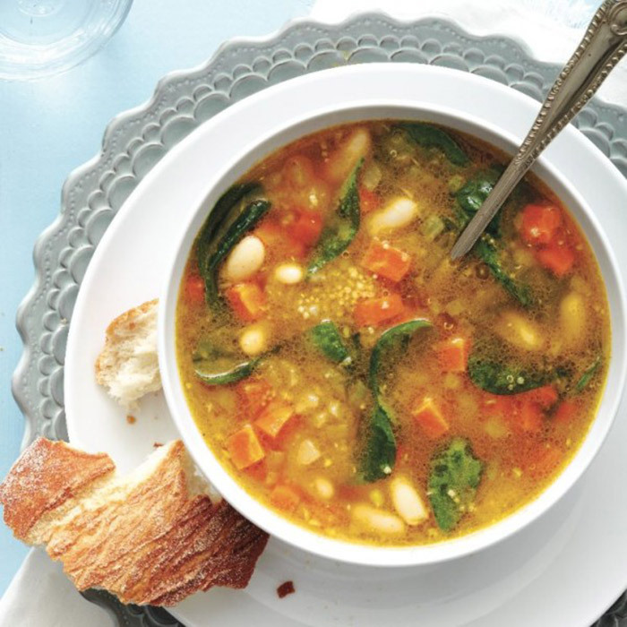<h4>Hearty quinoa soup</h4>