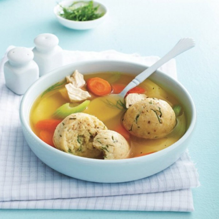 <h4>Matzo-ball soup</h4>