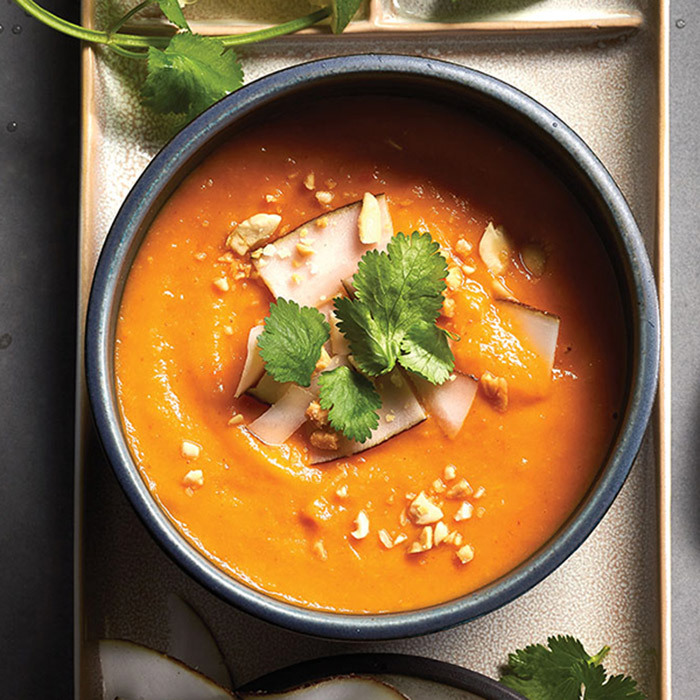 <h4>Thai sweet potato red curry soup</h4>