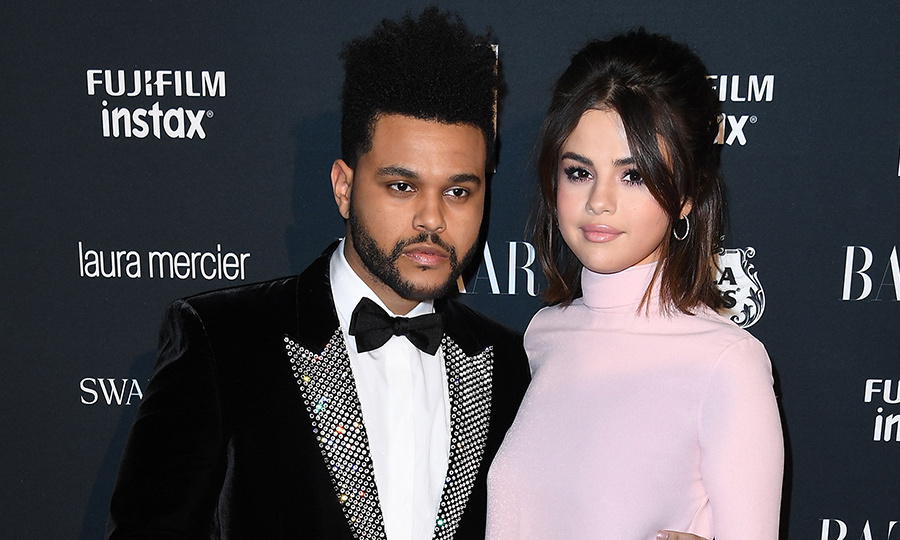 <h2>Selena Gomez and The Weeknd</h2>