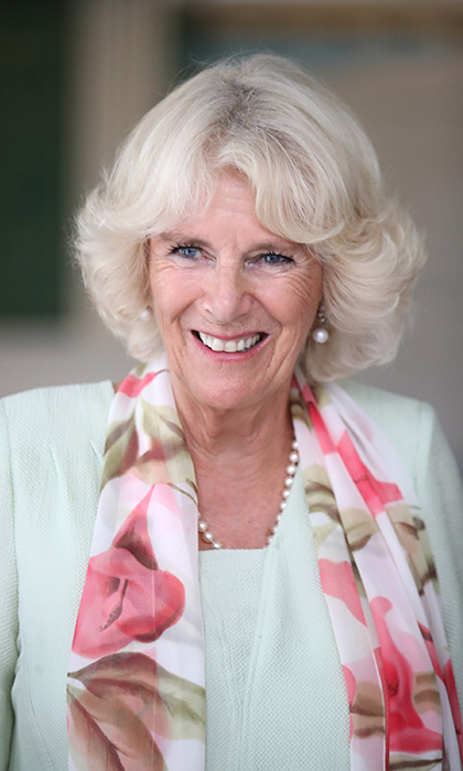 The Duchess of Cornwall looked lovely in a mint green dress and floral scarf as she attended the Commonwealth Literacy event at Temasek Junior College. 