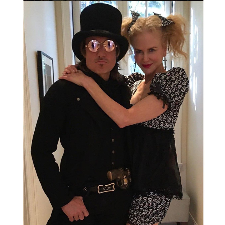 Keith Urban and Nicole Kidman made the perfect pair on Halloween night, taking to social media to show off their coordinated costumes. 