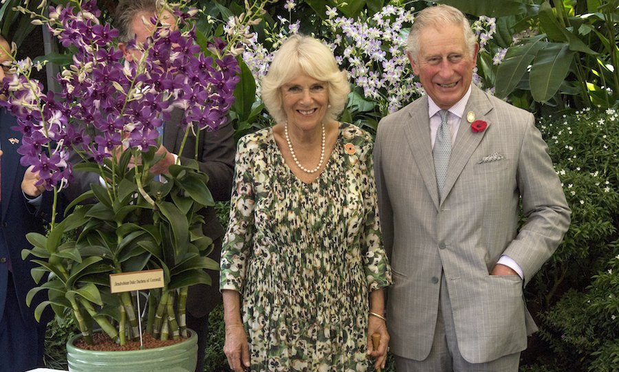 Prince Charles and Camilla took part in an Orchid Naming Ceremony at the National Botanical Gardens. The royals had a new orchid named after them called the Dendrobium Duke Duchess of Cornwall. 