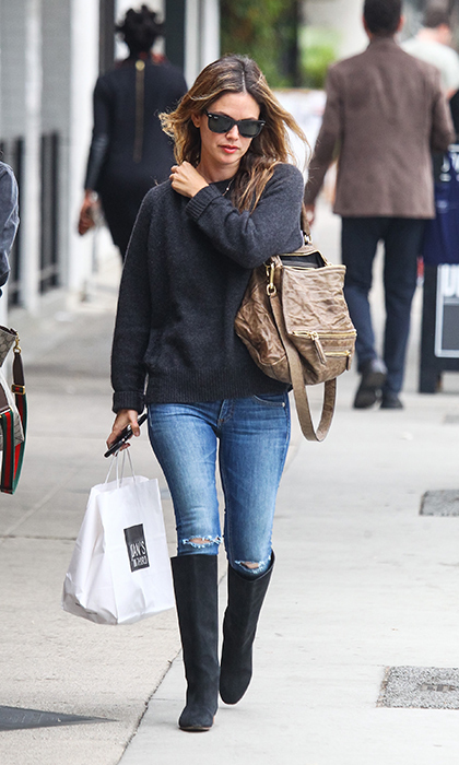 <p><i>Nashville</i> actress Rachel Bilson enjoyed a casual lunch with a friend in Studio City, California Oct 30. The 36-year-old wore a comfy outfit of a sweater, jeans and knee-high black boots, paired with a large Givenchy bag to complete the look.