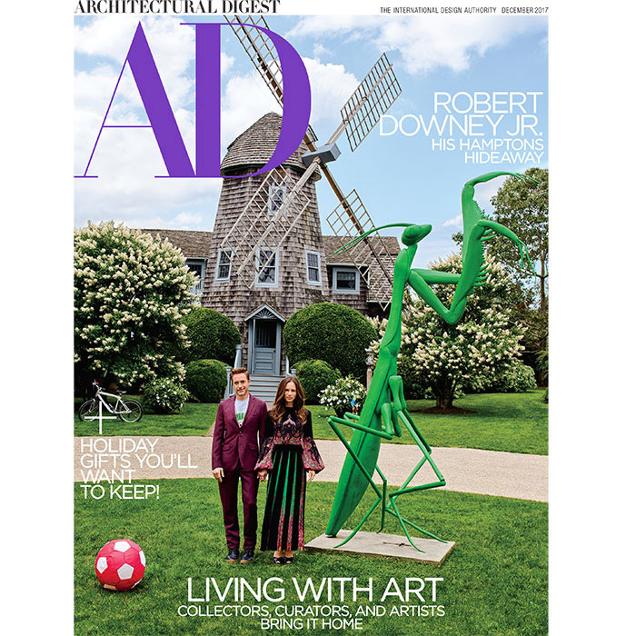 <p>Robert Downey Jr and his wife Susan feature on the cover of Architectural Digest.</p>