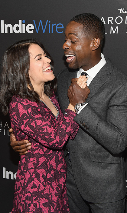 <p><i>Broad City</i> creator and actress Abbi Jacobson and <i>This Is Us</i> star Stirling K. Brown share a goofy moment while arriving at the inaugural IndieWire Honors in LA Thursday (Nov 2).