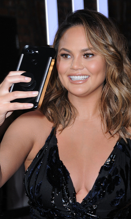 <p>Snapchat comedian Chrissy Teigen snapped a selfie at the #REVOLVEawards in Hollywood on Thursday (Nov 2).