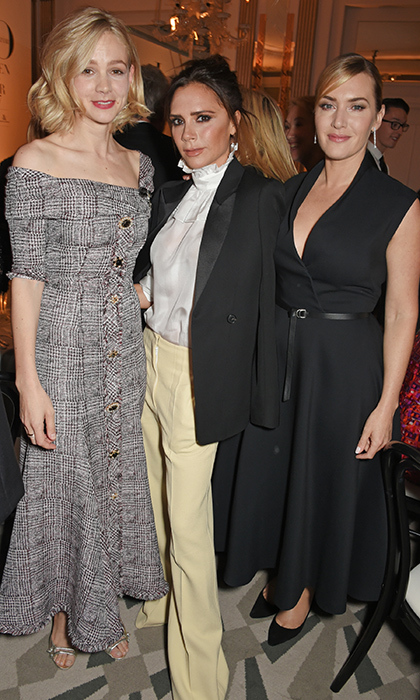<p>Carey Mulligan, Victoria Beckham and Kate Winslet posed together for a stunning photo at the Harper's Bazaar Women of the Year Awards. The three were honoured with the Philanthropy Award, British Brands Award and British Actress Award, respectively.