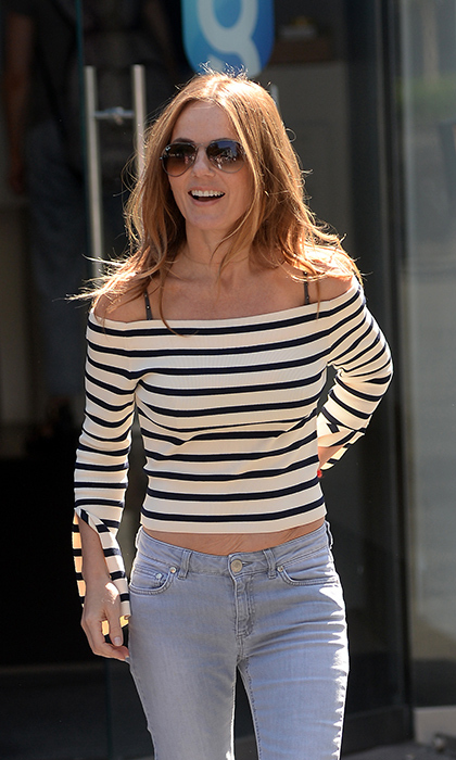 <p>Geri Horner spotted out and about in London this summer.</p>