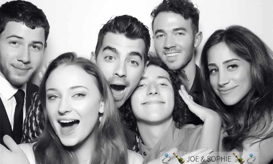 Joe Jonas and Game of Thrones star Sophie Turner celebrated their engagement with their closest friends and family at Mamo in New York City on Nov. 4. The evening seemed to be a night of dancing, photo booth fun and lots of love.