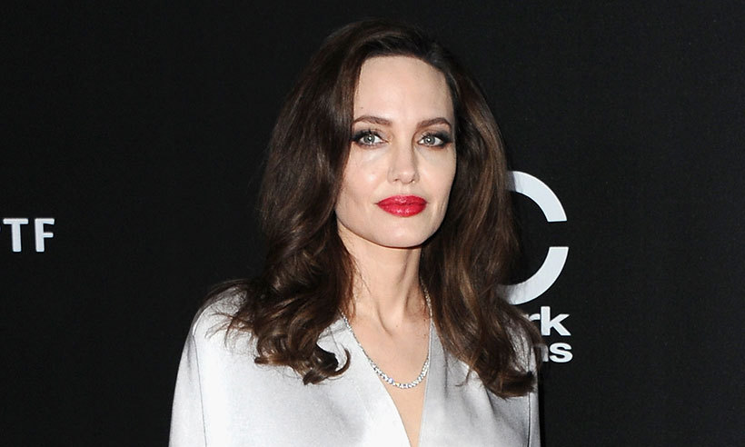 Angelina Jolie Steals The Show In Silver At The Hollywood